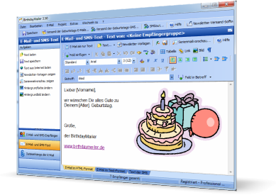 fce51efdef BirthdayMailer, Versand von Geburtstags HTML E-Mails und Geburtstags SMS